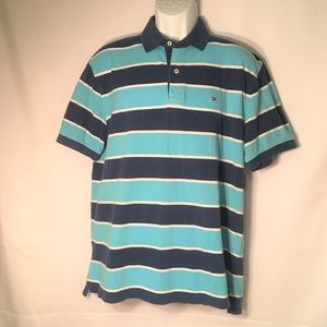 Tommy Hilfiger Classic Fit Striped Polo Shirt Mens